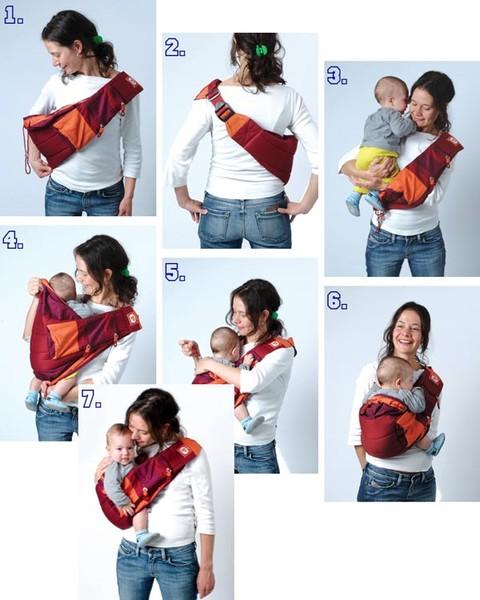 Слинг для новорожденных как пользоваться видео
