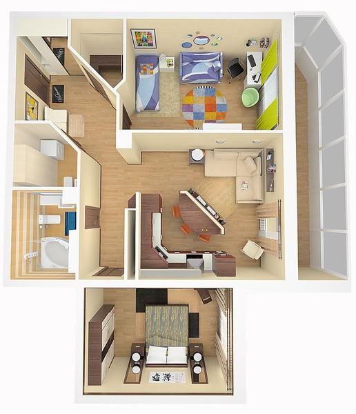 Планировка комнат в квартиры виды