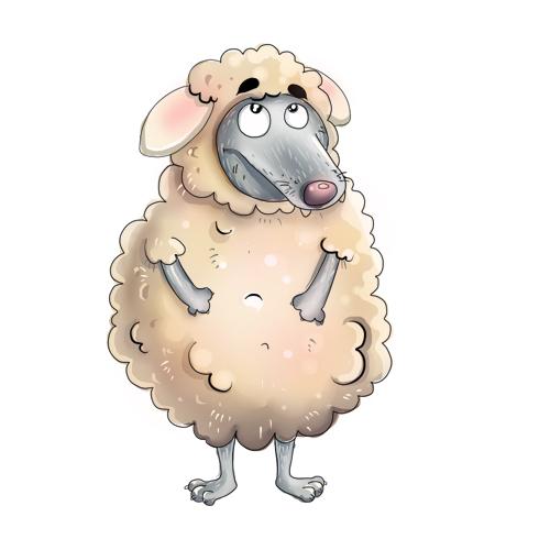 Фразеологизм волк в овечьей шкуре картинка