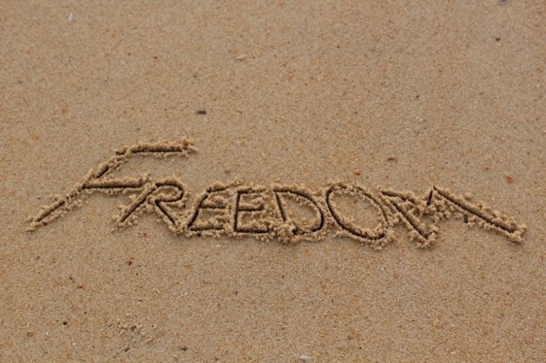 Для открыток, картинка с надписью свобода