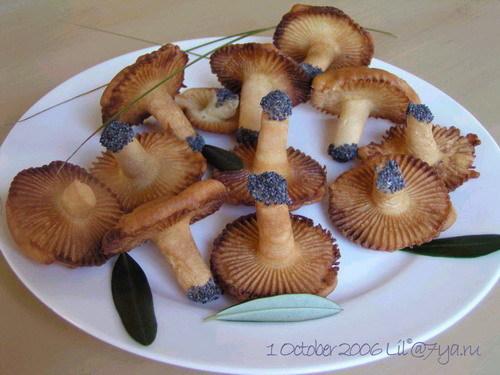 рецепт печенья грибочки во фритюре