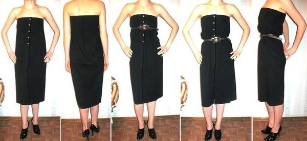 Как длинную юбку перешить в платье
