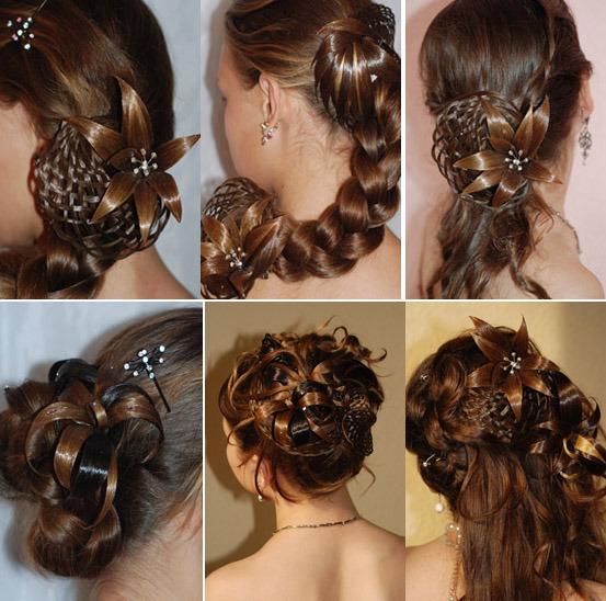 Как сделать большой цветок для волос