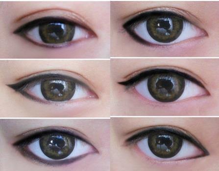 зрительно увеличить глаза с помощью макияжа фото
