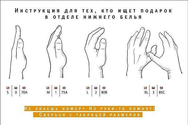 Как определить размер грудей на ощупь