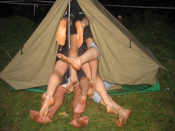 Русский секс в палатке видео