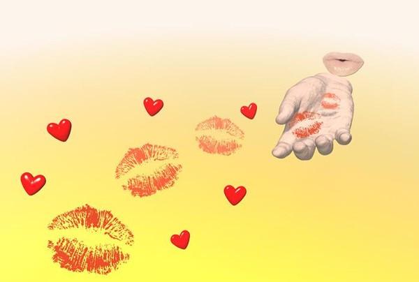 Днем рождения, открытки с посланием воздушного поцелуя мужчине