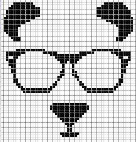 по клеточкам панда картинки