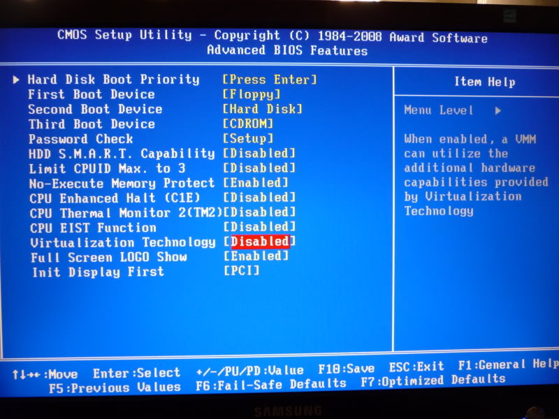 How do I change virtualization settings in BIOS - Satu