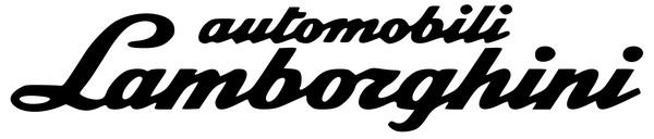 lamborghini шрифт с логотипа