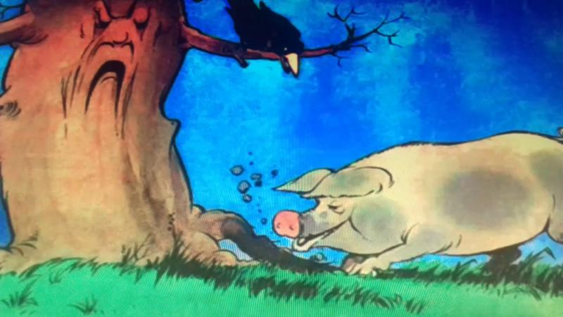 Празднику, рисунок к басне свинья под дубом