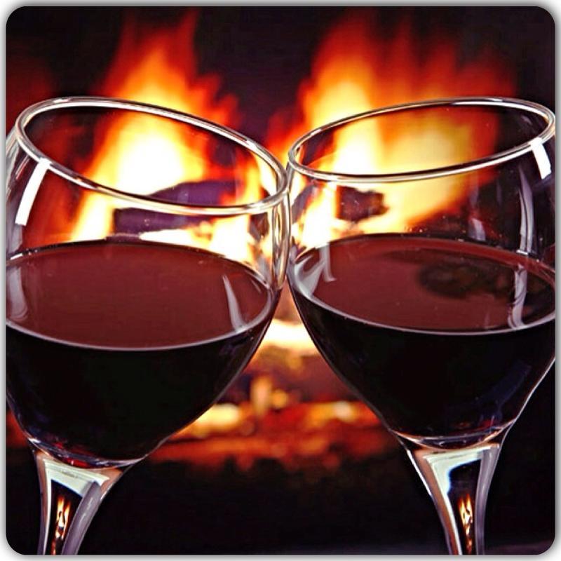 Открытка давай выпьем вина
