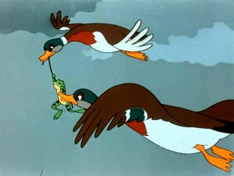 Картинка из мультфильма лягушка путешественница