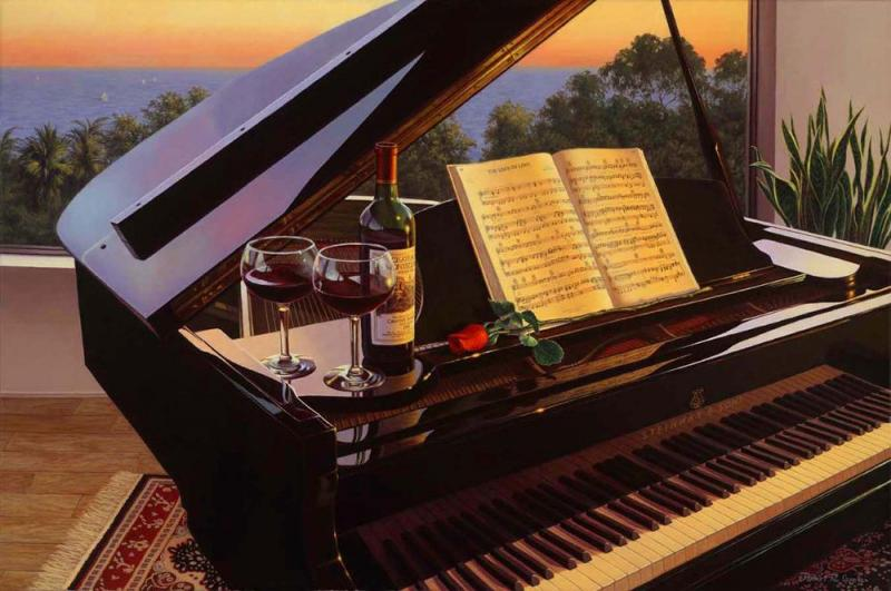 Картинка с днем рождения с роялем