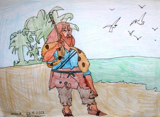 надоело сочинять как нарисовать поэтно карандошом робинзона крузо для Денди Качай