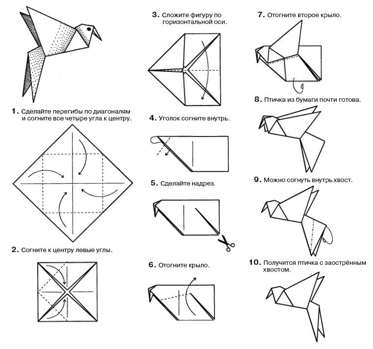Картинки как складывать оригами, картинки
