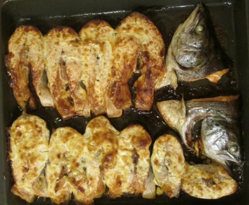 как вкусно запечь стейк семги в духовке