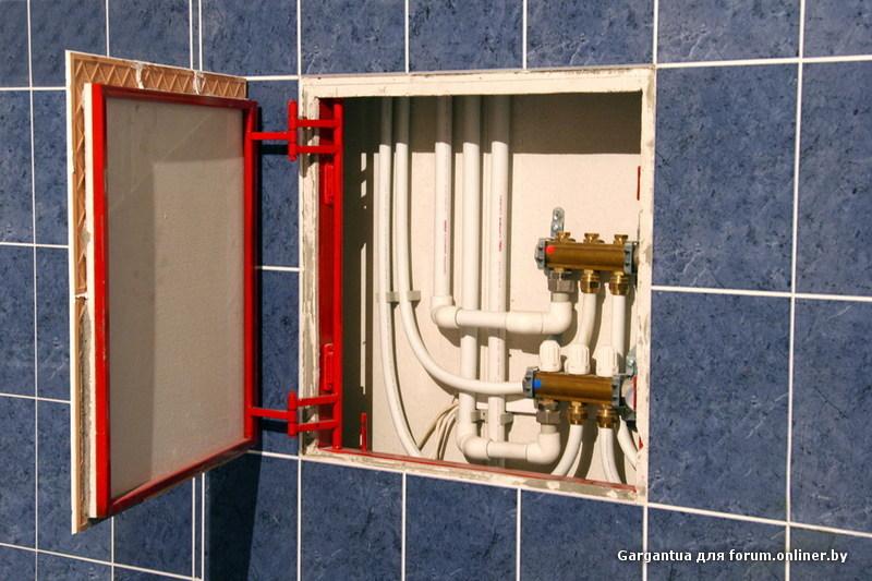 механизм открывания сантехнического лючка