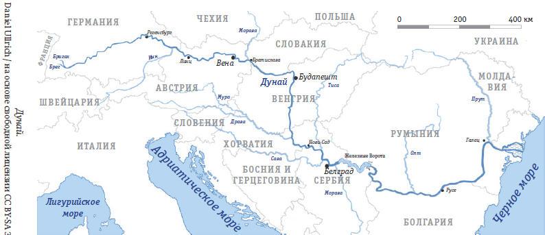 Дунай на карте европы фото