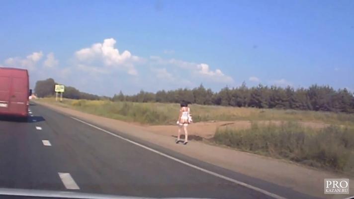 Съем женщин на трассе