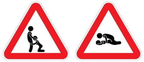 Порно с дорожными знаками