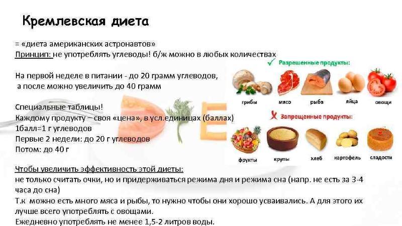 кремлевская диета суть