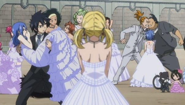 В какой серии хвоста феи свадебные платья