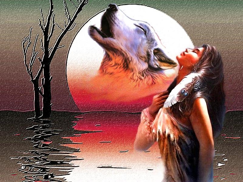 Волк воет на девушку картинка