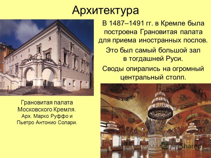 достижения русской культуры 13-17 века архитектура лицо ведет