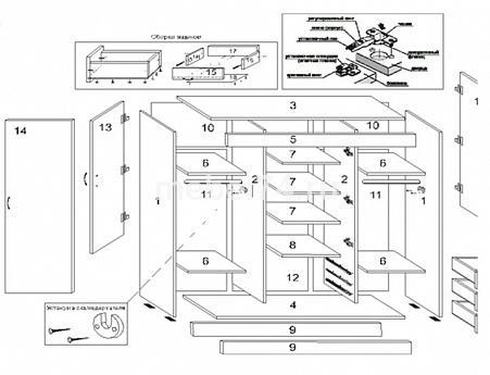 как собрать шкаф фортуна инструкция