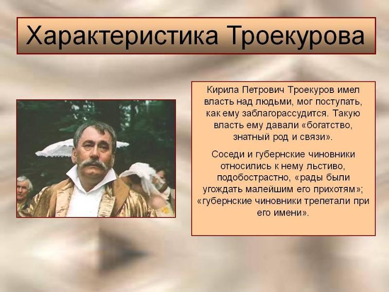 характеристика младшего андрей гаврилович дубровского 6 класс набор
