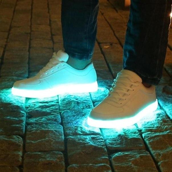 Кроссовки со светящейся подошвой купить в городе красноярск
