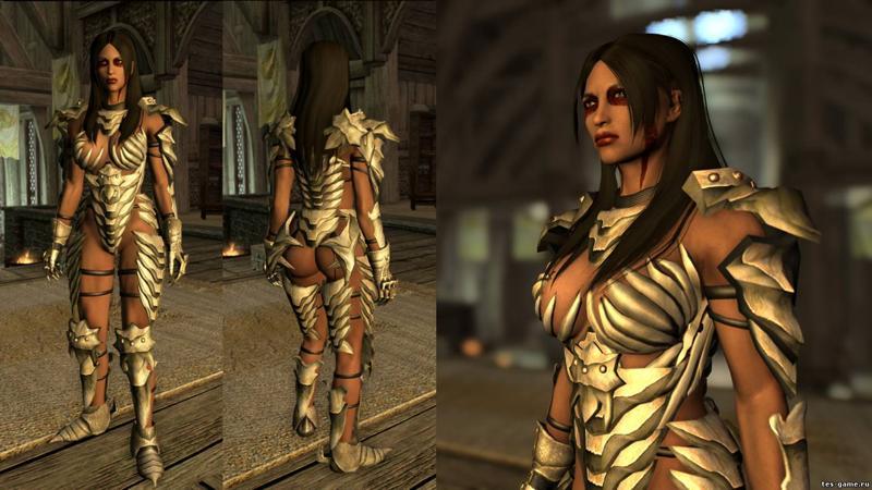 Skyrim мод секс броня