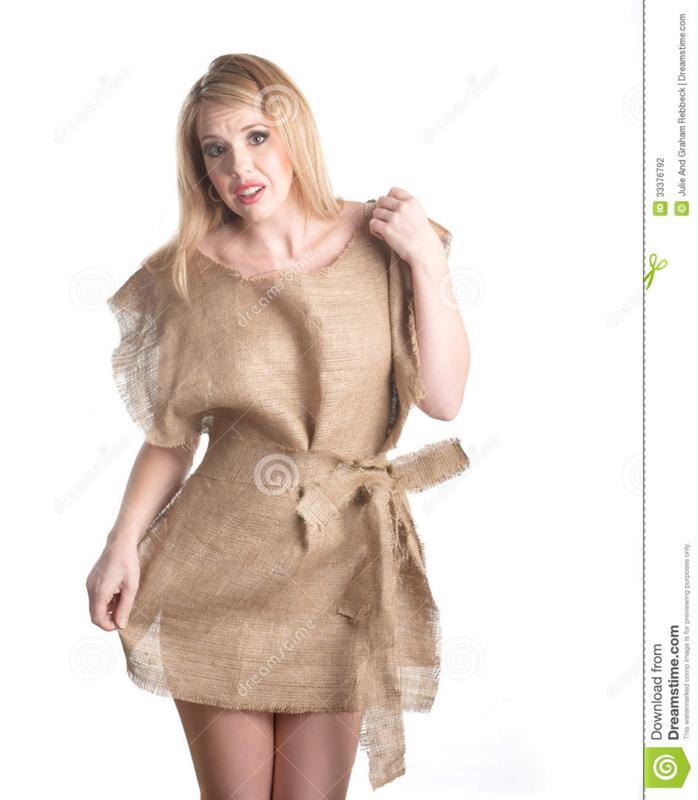 Платье мешок из под картошки