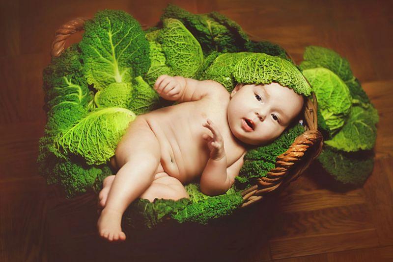 Детские фото в капусте