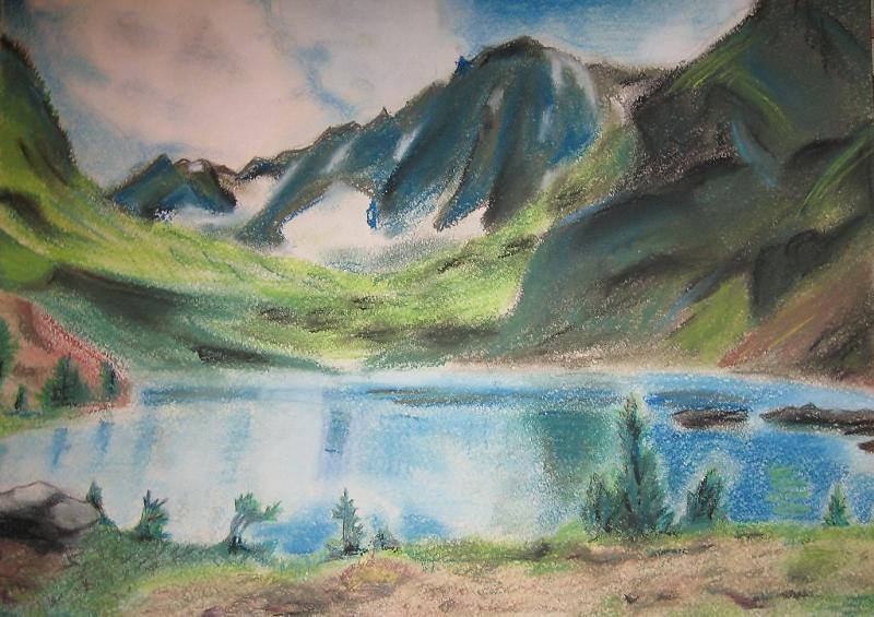 картинки гор как нарисовать цветными выхода сцену оставалось