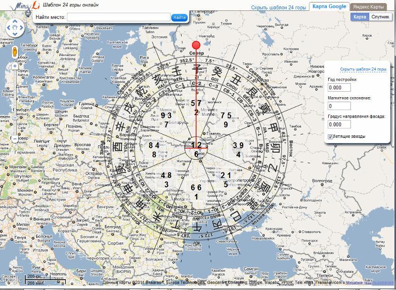 карта россии с компасом высокотехнологичных материалов