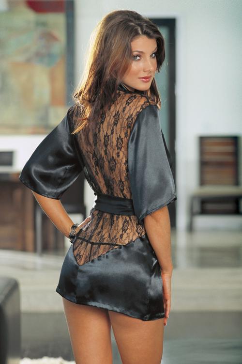 Халаты женские шелковые секси короткие