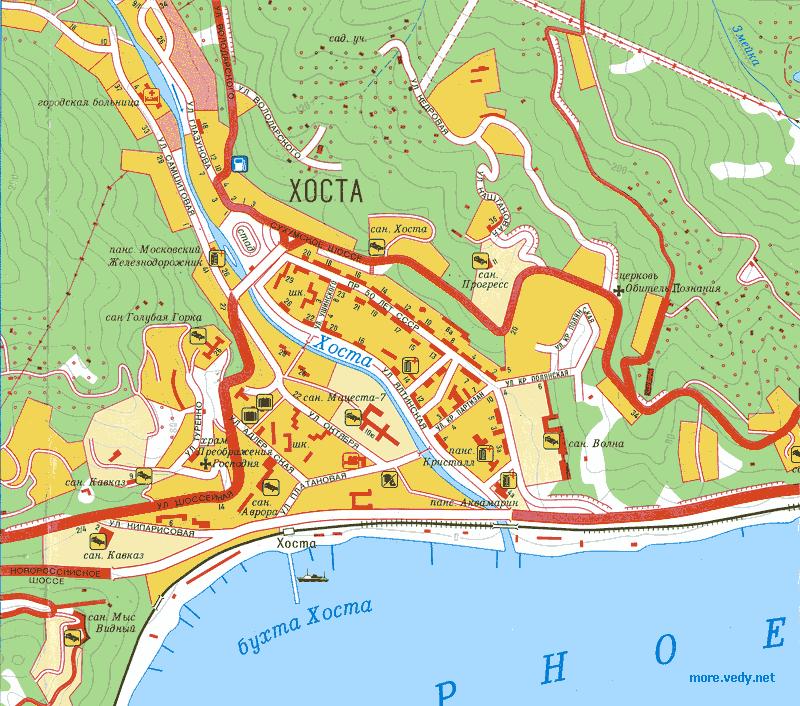 ассортимент карта города хоста с улицами фото действенность