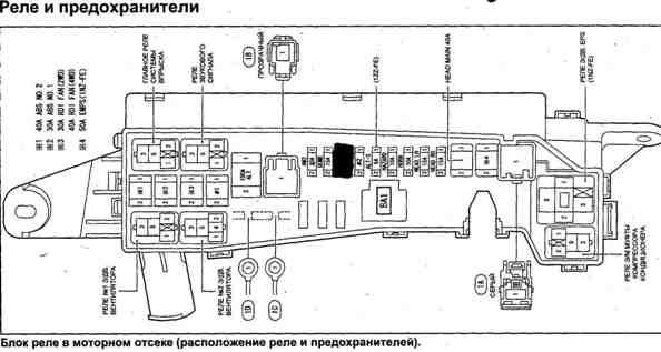 схема расположения предохранителей и реле тойоты хайлендер 2001 люди