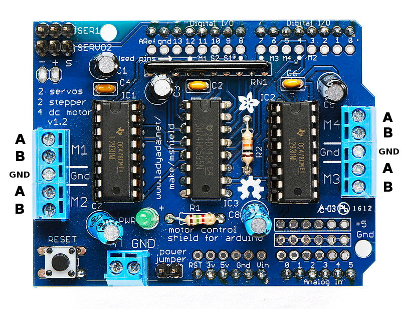 Dual Stepper Motor Driver Shield for Arduino - Banana