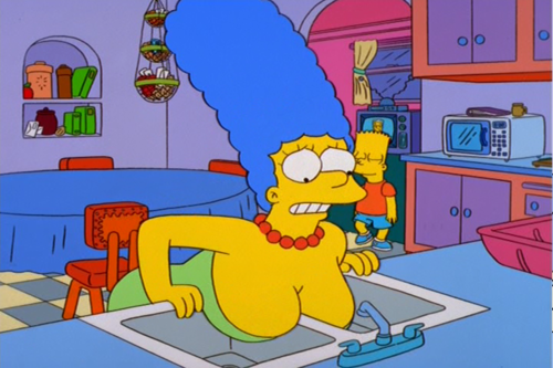 Boobs marge simpson naked