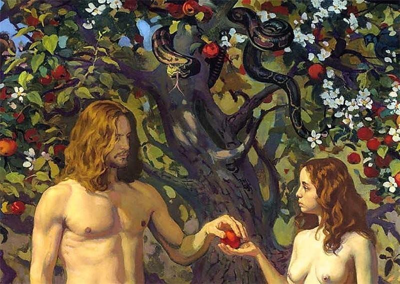 Адам и ева в картинках, анимацией марта