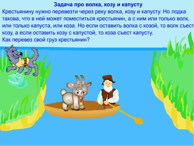 задача про переправу через реку волка козу и капусту