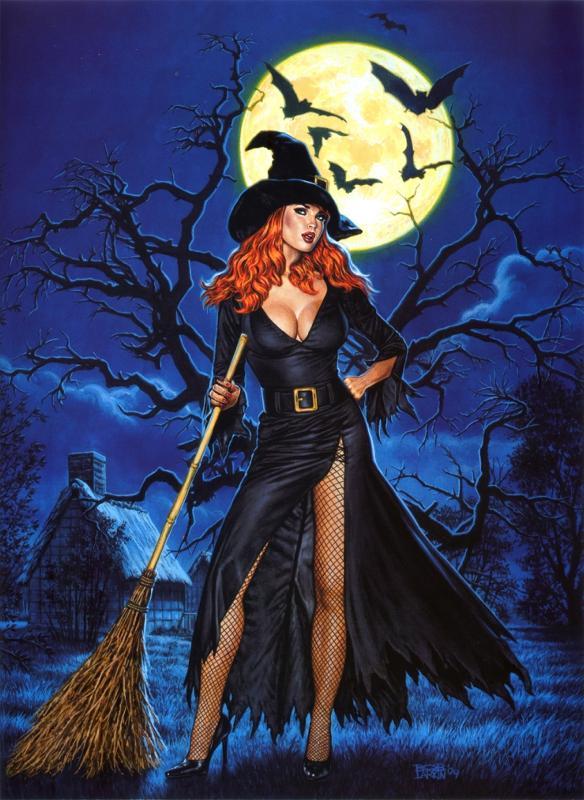фото сексуальная ведьма на метле