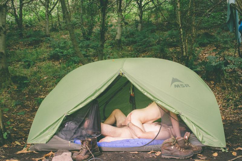 фото ебля в палатке