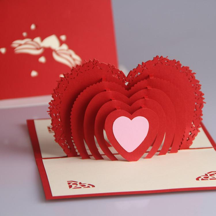 Картинки, объемная открытка с сердцем