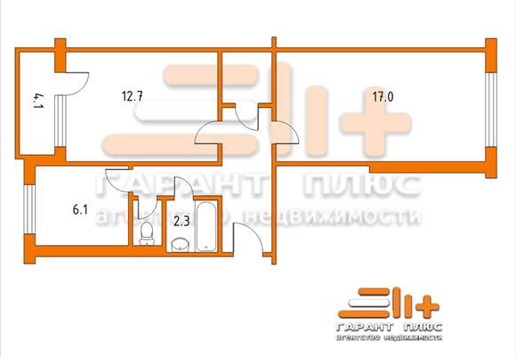 Планировка квартиры вагончиком