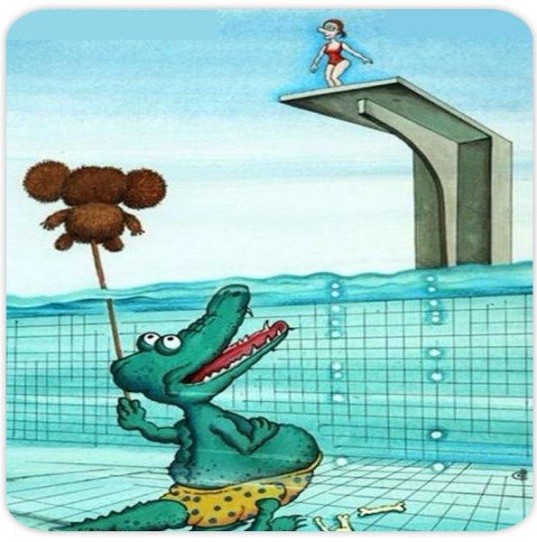 Прикольные картинки чебурашки и крокодила гены