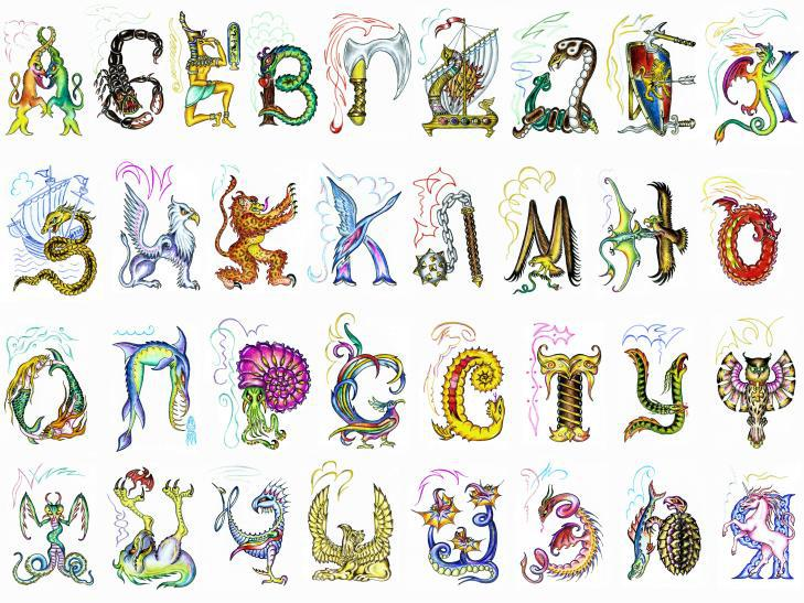 alphabet name art